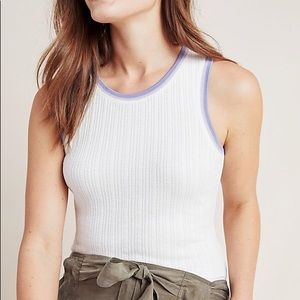 NWT Seidler Ribbed Tank from Anthropologie! size M
